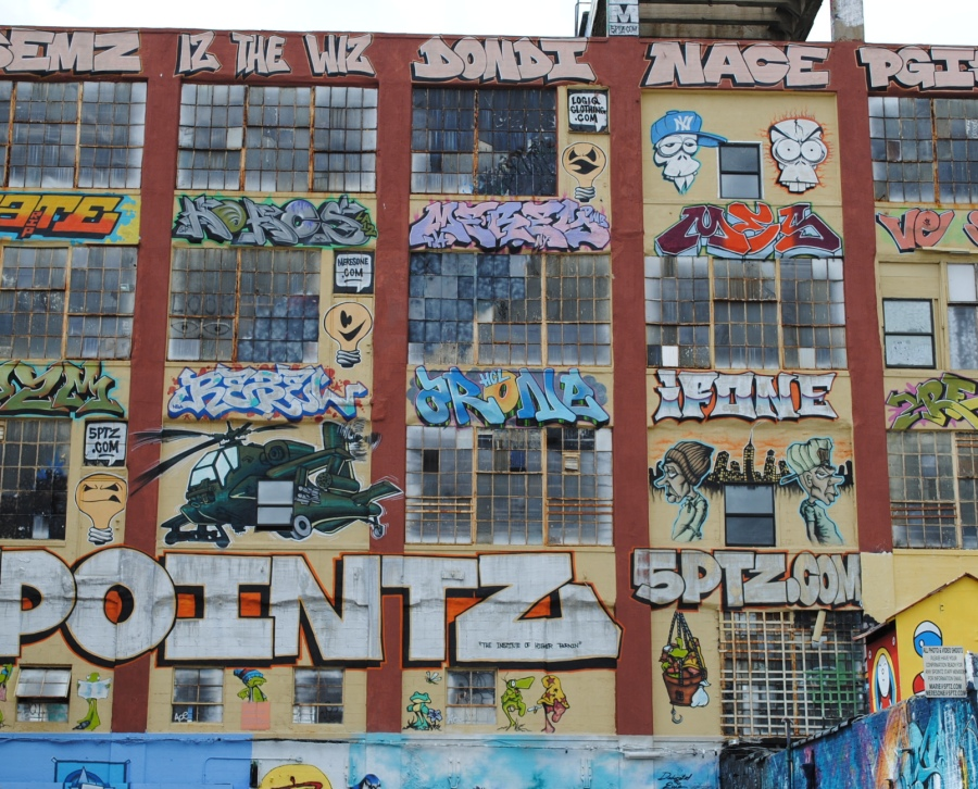 This is an interesting, outdoor art gallery, which we visited. It is called 5 Pointz. For my opinion, it represents the modern world in art way, or shows the way people look on today's world events and the world itself.