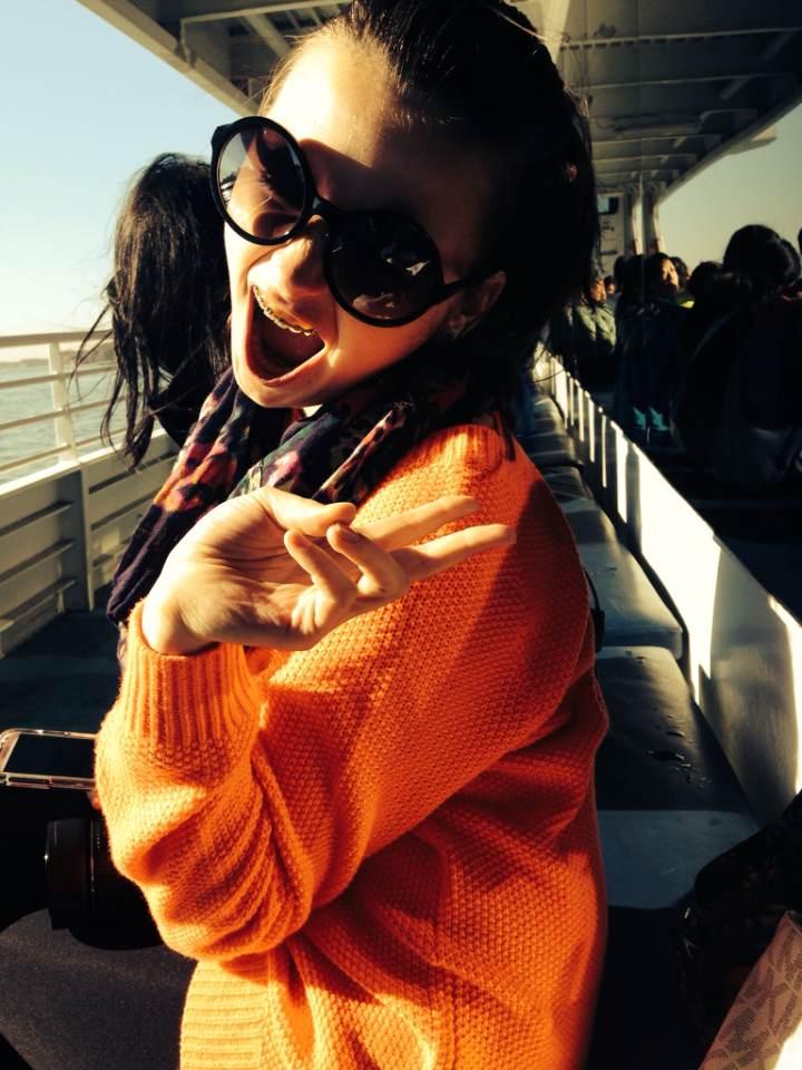 NYC Diary:: Hudson River & Orange Sweater.