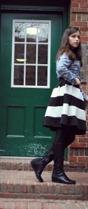 Headband-Forever 21 Shirt-Marshalls Skirt-Love Culture Boots-DKNY