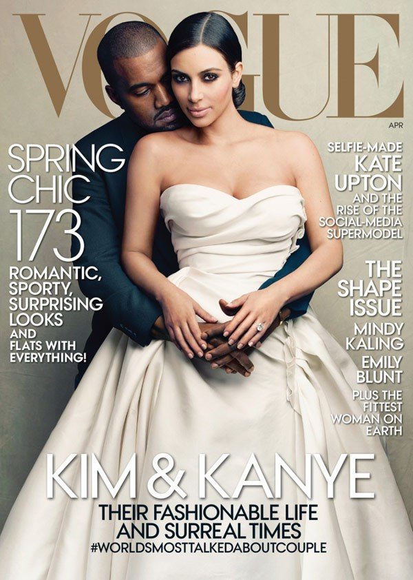 Kim and Kanye's Cover. Picture by Vogue.