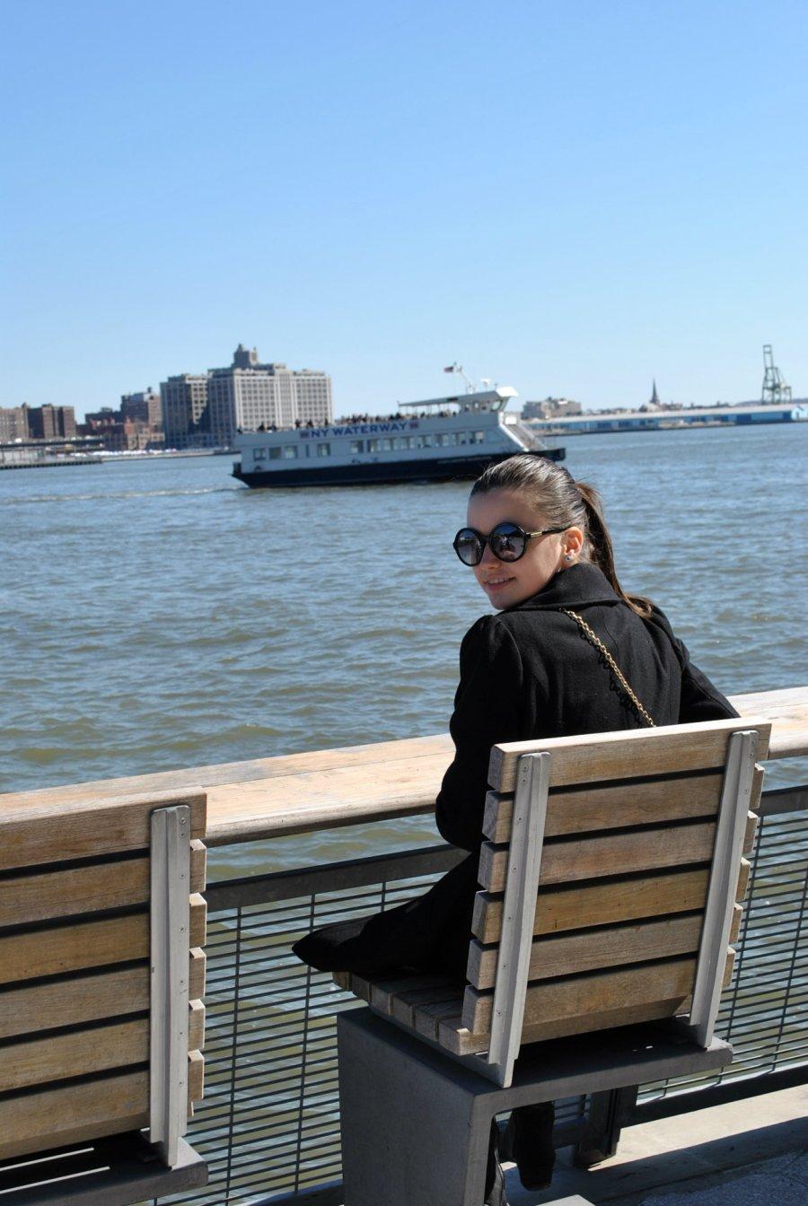 Coat-Bethany Mota for Aeropostale Dress-Forever 21 Sunglasses-Betsey Johnson